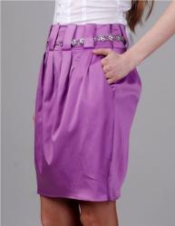 Молодежная юбка сиреневого цвета.  Состав: 80% хлопок, 20% п/э.