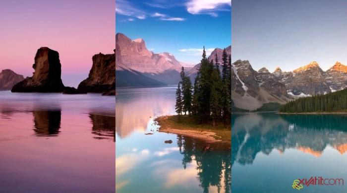 Вода тройная картинка на сенсорный телефон samsung s5230 c разрешением 720x