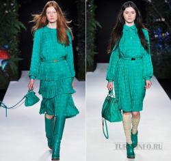 ...мир изумрудного цвета, выбрав не только одежду этого цвета, но и...