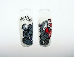 дизайн ногтей с мишками тедди дизайн ногтей с мишками тедди рисунки мишка тедди на ногтях.