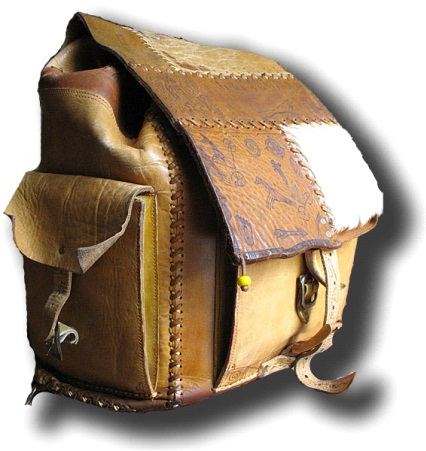 Портфели рюкзаки: выкройка туристического рюкзака.