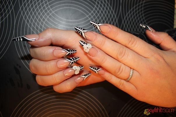 дизайн гелевых ногтей лето 2012.