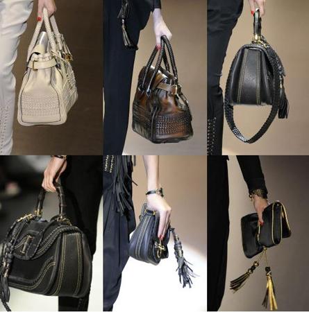 Идеальный вариант - сумки среднего размера с не слишком большой ручкой.