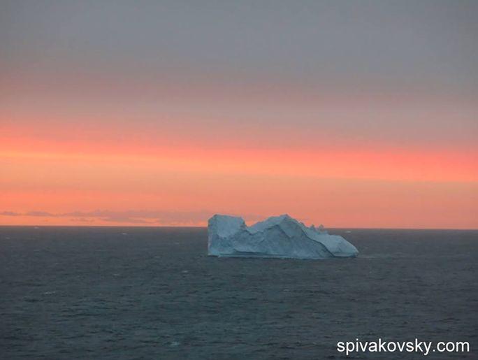 Репортаж из Антарктиды №19. Закат в Антарктике.