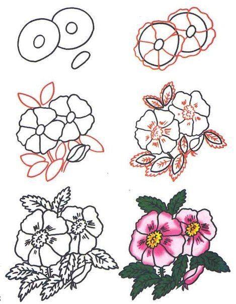 Посмотрите на схемы рисунков и