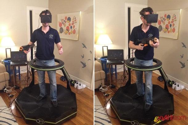 Виртуальная реальность на беговой дорожке