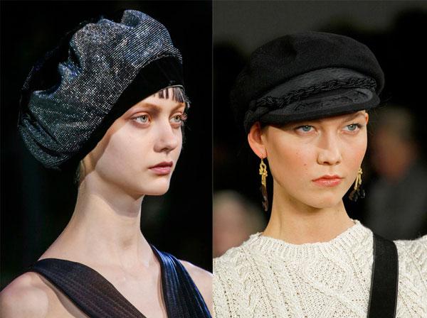 модные головные уборы зима 2014 фото