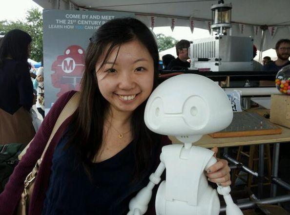 Самодельный робот из принтера