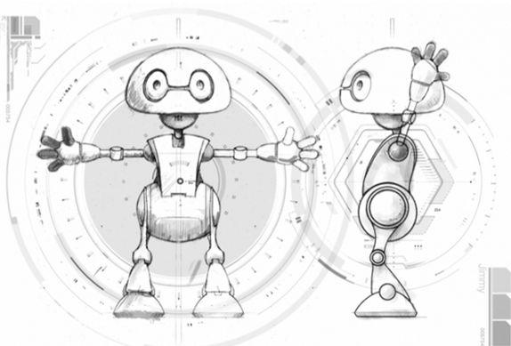 Самодельный робот из принтера 2