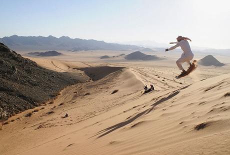 Песчаный сноубординг