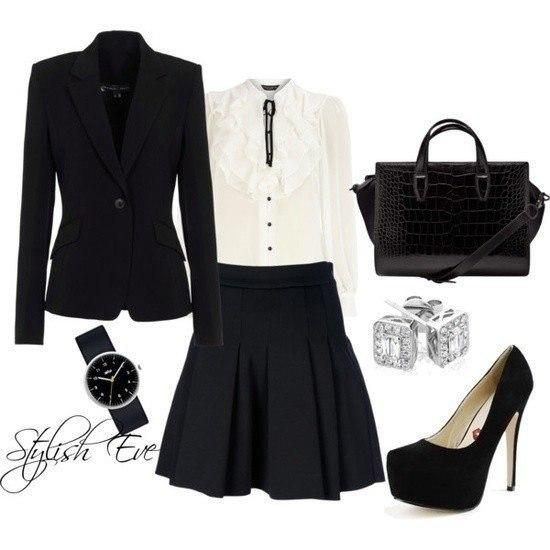 Модные юбки в школу черные