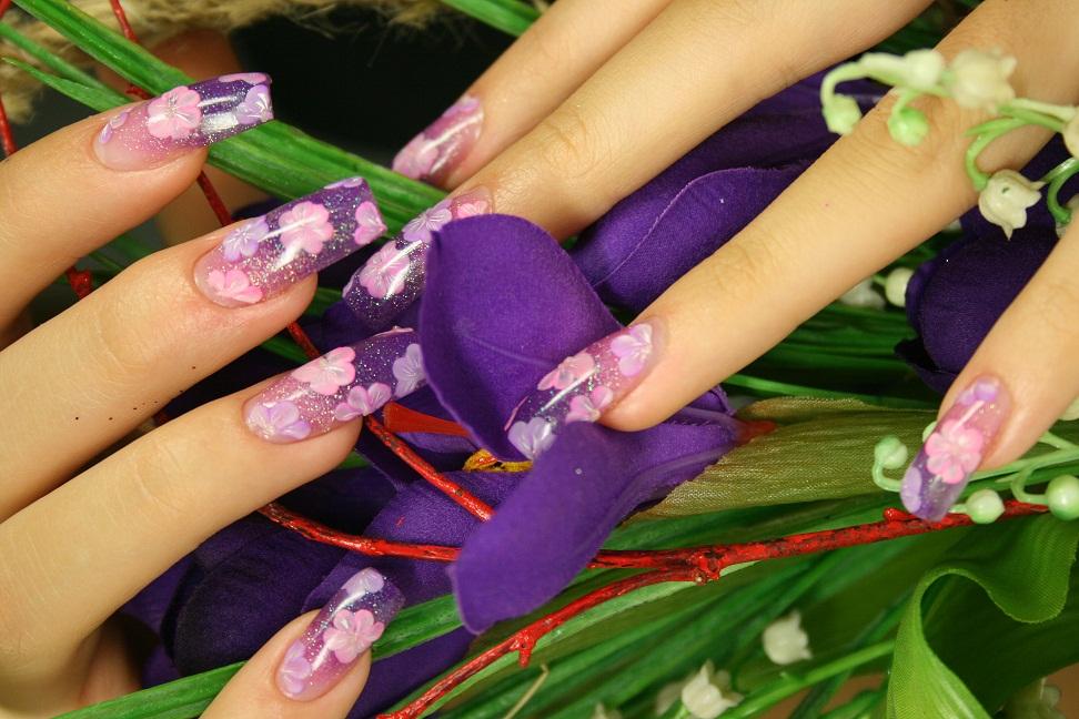 аквариумный дизайн ногтей пошагово фото