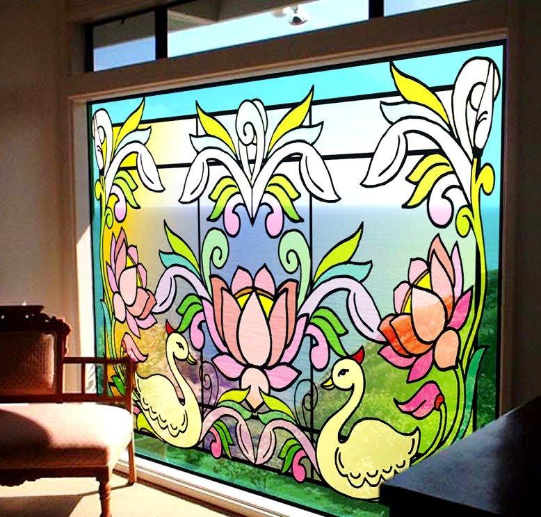 Роспись по стеклу имеет