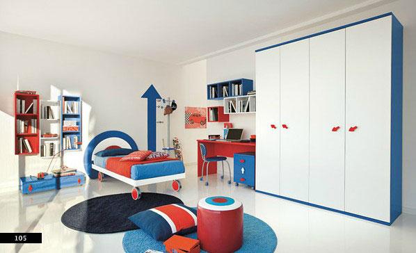 Модная детская комната для мальчика