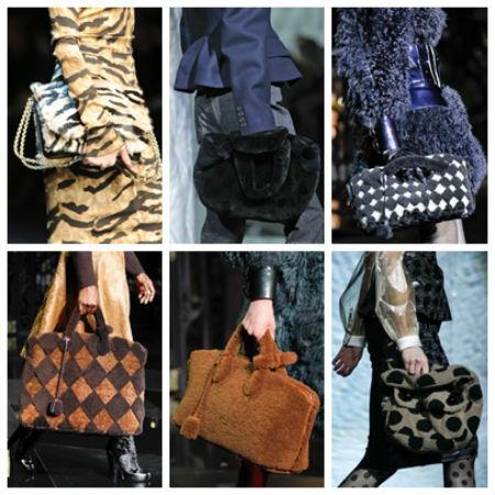 сумки из меха.