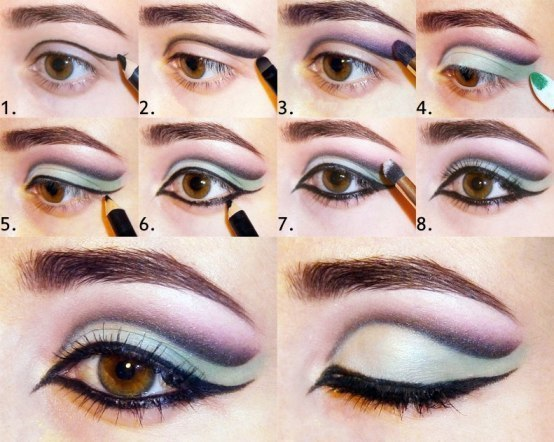 Blonde eye makeup