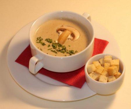 Как приготовить грибной крем-суп: видео