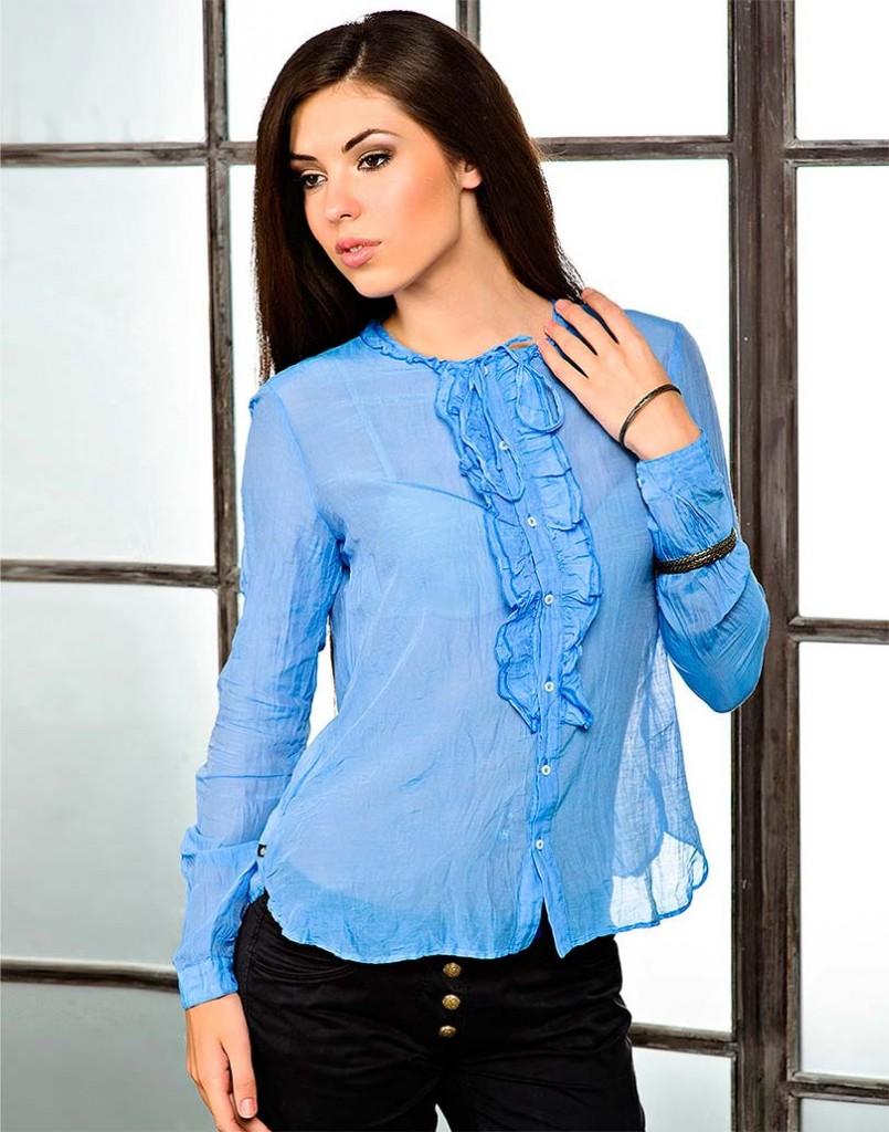 как обновить блузку своими руками