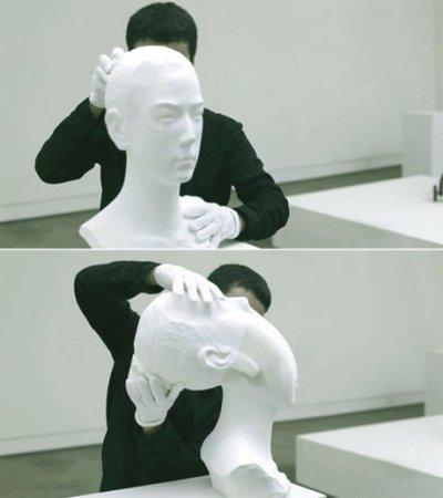 Прикольное видео живых скульптур