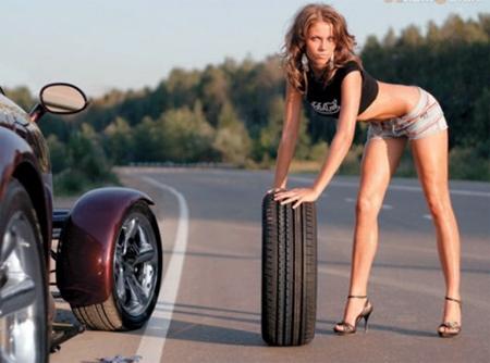 Девушки за рулем - авто приколы