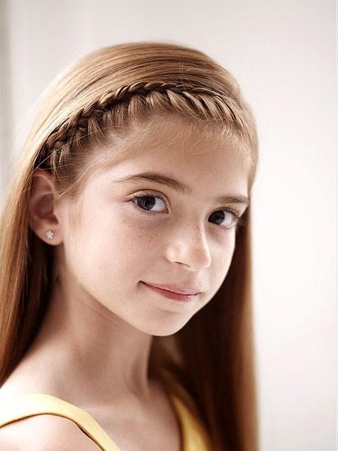 Прически на длинные волосы для девочек 7 лет