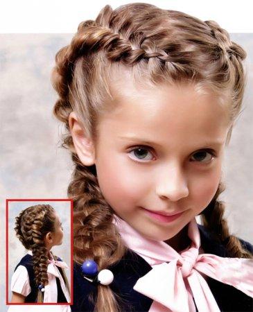 Красиві зачіски для дівчаток 7 років