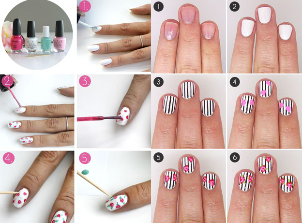 Рисунок на ногтях как сделать