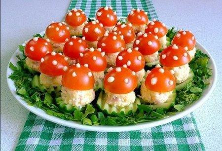 Весняний рецепт закуски на 8 березня «Мухомори»