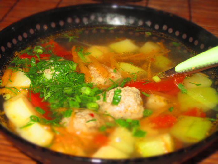 как. готовить суп из фрикаделек