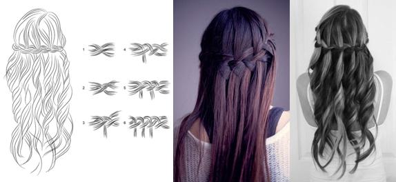 Легкие прически на распущенные волосы в школу