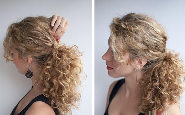 быстрая прическа на длинные кудрявые волосы
