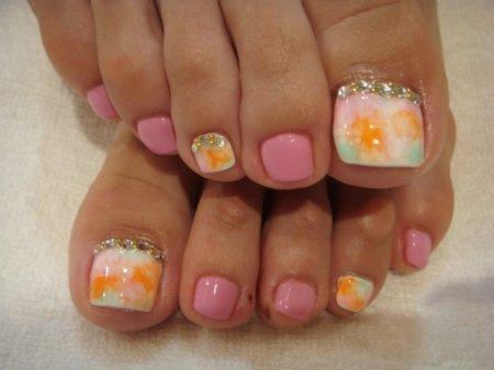 Summer toe nails tumblr