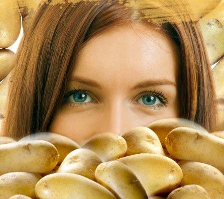 Картофельно-сметанная маска для сухой кожи лица
