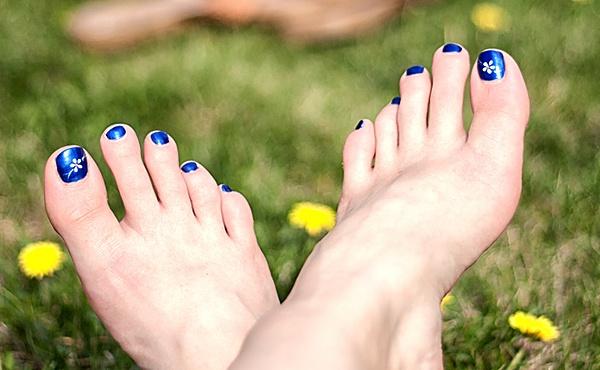 Ногти Короткие Нежный Рисунок