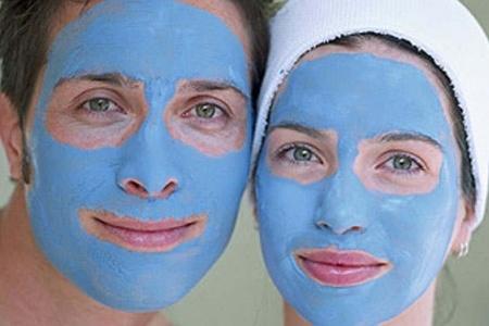 маски для лица голубой глины