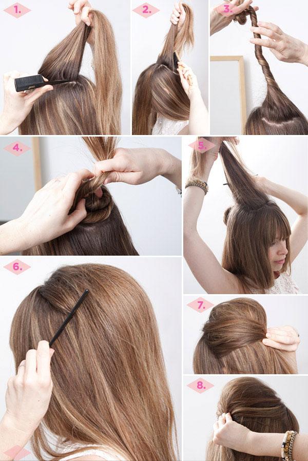 Как сделать прическу на средние волосы своими руками фото