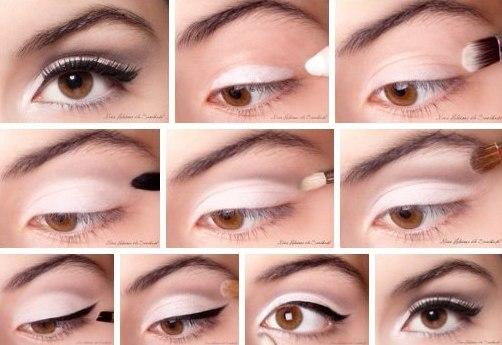 Как правильно сделать макияж для голубых глаз фото 927