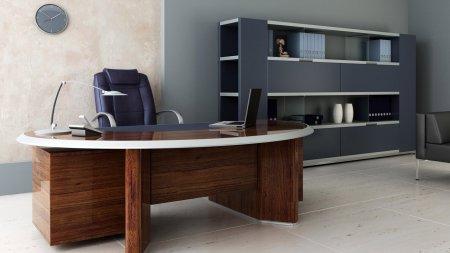 Інтер'єр робочого кабінету в офісі фото