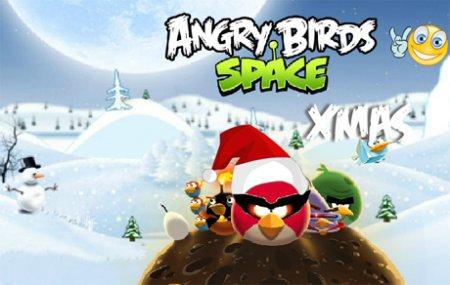 Новогодние Angry Birds в космосе играть онлайн