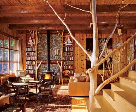 Интерьер деревянных домов: как оформить оригинально
