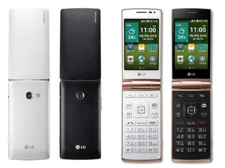 Новинки телефонов раскладушек: первый смартфон-раскладушка LG Wine Smart