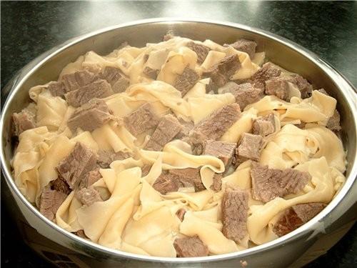 бешбармак рецепт из говядины с фото в домашних условиях