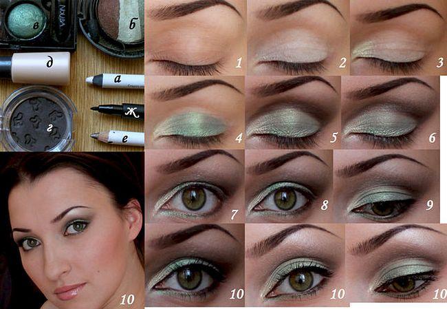 пошаговая инструкция макияжа для глаз - фото 5