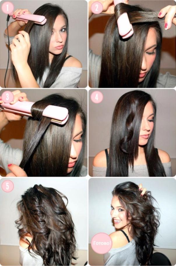как делать волны на длинные волосы