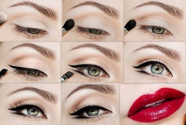 Как правильно сделать макияж на глазах 530