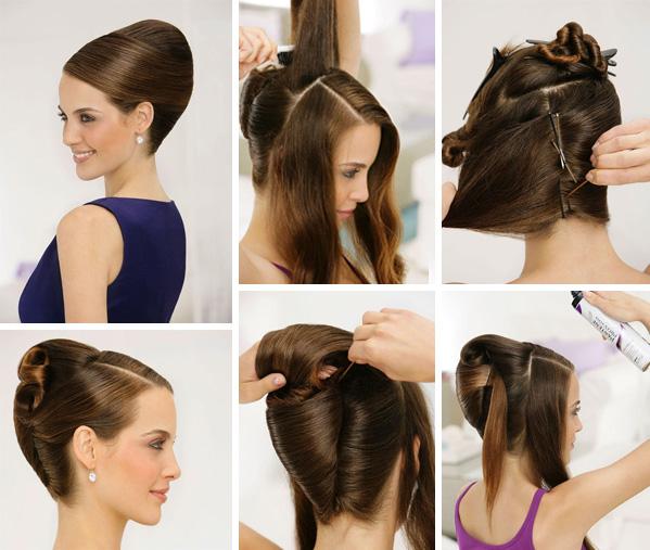 Прическа на длинные волосы ракушка