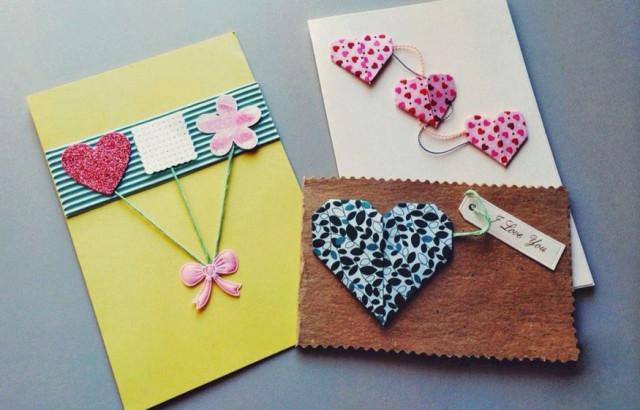 виготовлення листівки до дня святого валентина