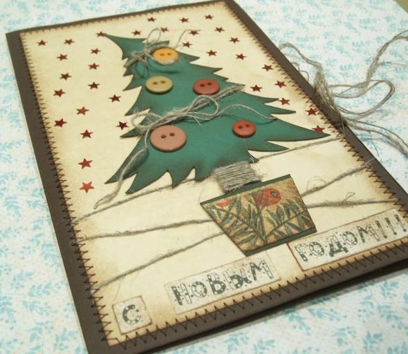 Красивая открытка на нг своими руками