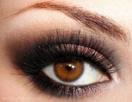 Макіяж: тіні для карих очей
