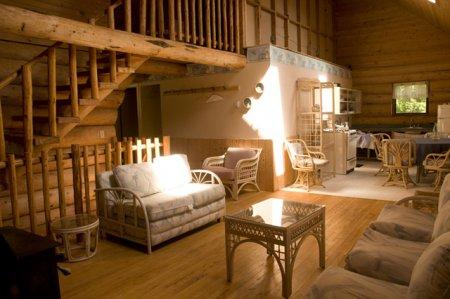 Інтер'єри дерев'яних будинків з колоди